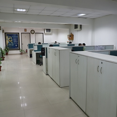 Skipper Technologies India Pvt. Ltd. Office showing Topcon Skipper People doing their Work.