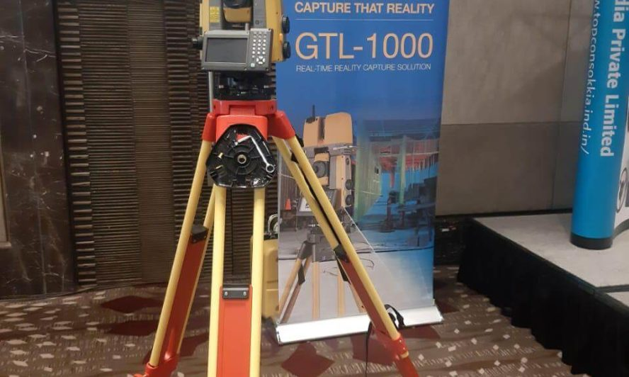Topcon GTL 1000 scanning robotic total station in show
